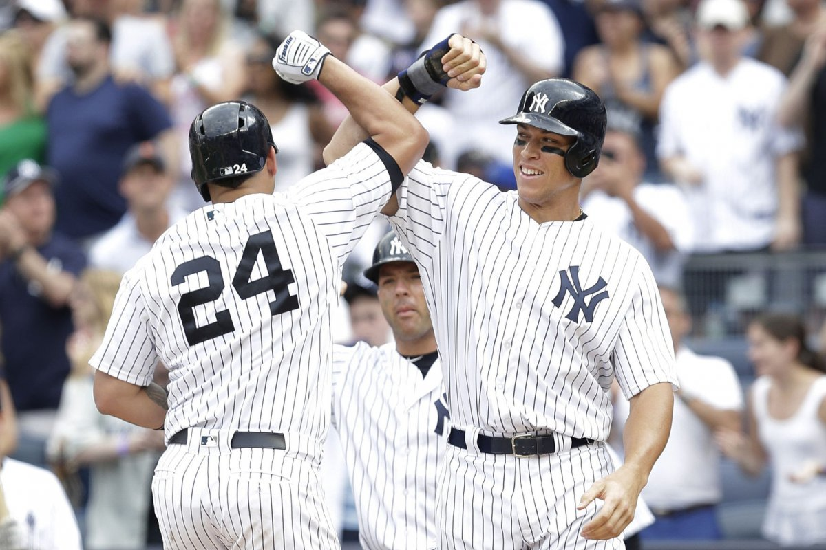 Image result for aaron judge gary sanchez