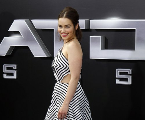 Emilia Clarke breaks hip dancing with Arnold Schwarzenegger
