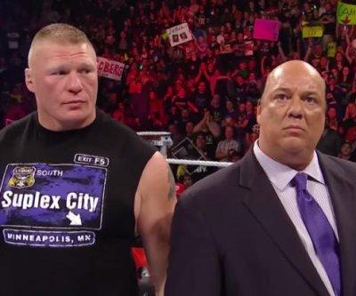 Brock Lesnar, Paul Heyman address Goldberg amid dueling chants on WWE Raw