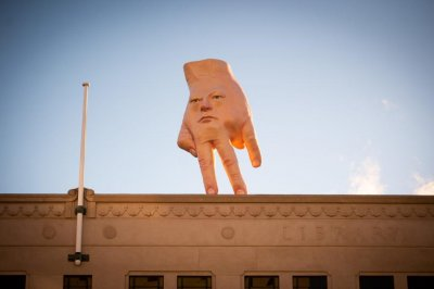 Hand sculpture atop New Zealand art gallery dubbed 'disturbing'