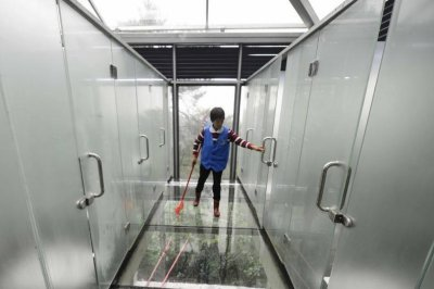 Semi Transparent Glass Bathrooms Open At China Tourist Location   UPI.com
