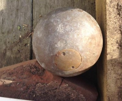 Explosive cannonball found buried in New Jersey man's yard