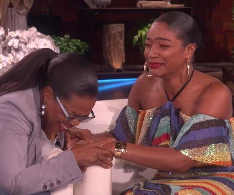 Tiffany Haddish cries after meeting Oprah Winfrey on 'Ellen'