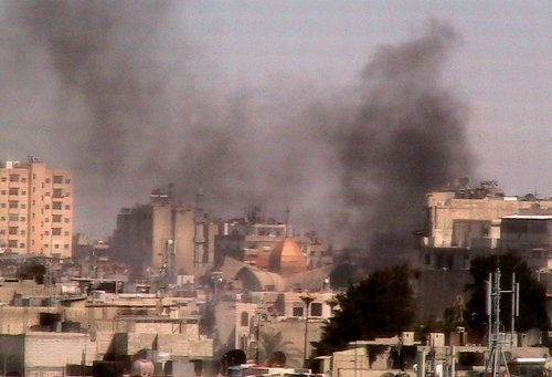 Government forces renew assault on Homs