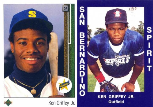 Ken Griffey Jr. owns 100 copies of his ('shopped) rookie card