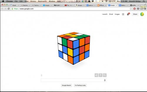 Google celebrates the Rubik's Cube's 40th anniversary