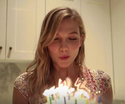 Karlie Kloss celebrates 23rd birthday by baking cake