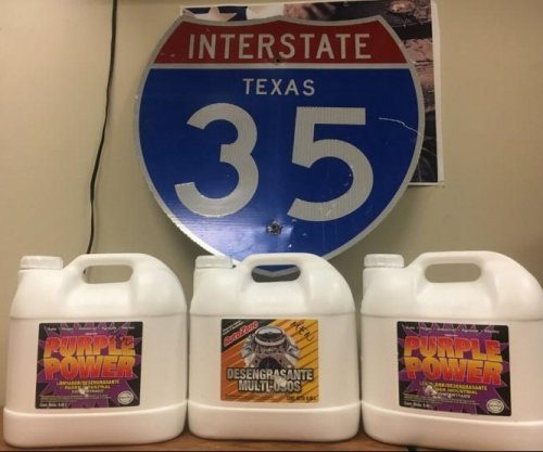 Texas police find 75 pounds of liquid meth in degreaser jugs
