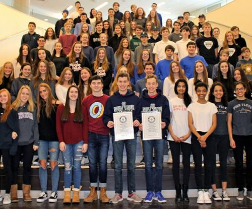 High school class breaks Guinness records with 45 sets of multiples