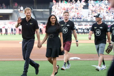 Prince Harry and Meghan attend MLB London Series as honorary guests
