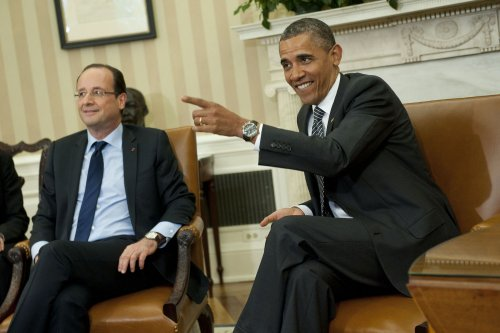 Obama, Hollande meet before G8