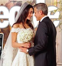 George Clooney and Amal Alamuddin wedding photos revealed