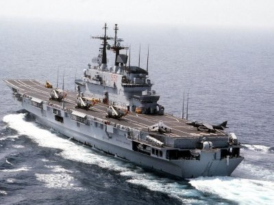 Early completion of refit of Italian aircraft carrier