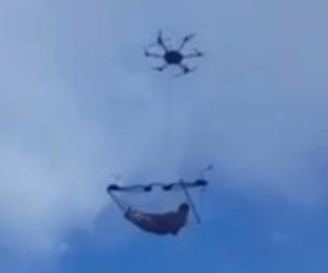 Mannequin in drone-carried hammock fools some in Georgia