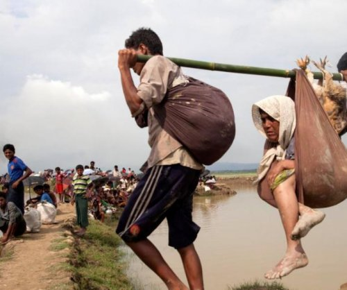 U.N.: More than 123K Muslim Rohingya flee Myanmar to Bangladesh