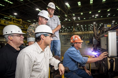 HII launches fabrication for amphibious assault ship USS Bougainville