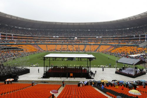 Body of Nelson Mandela lying in state in Pretoria