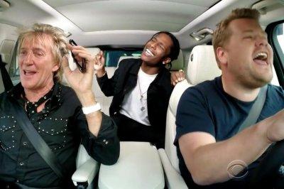 Rod Stewart joins James Croden for carpool karaoke, A$AP Rocky makes surprise apperance