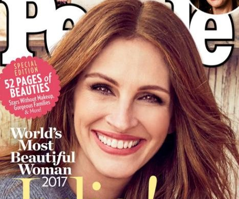 Julia Roberts named People magazine's Most Beautiful Woman