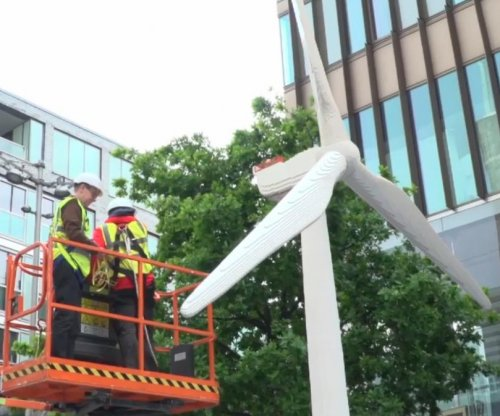 Lego experts construct world's largest Lego brick wind turbine