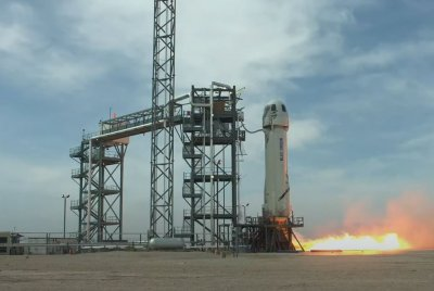Blue Origin's New Shepard on track for first crewed launch Tuesday