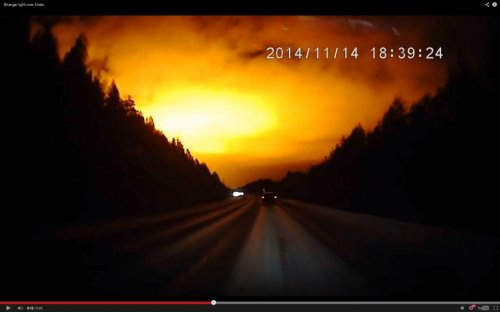 Mysterious flash lights Russian sky