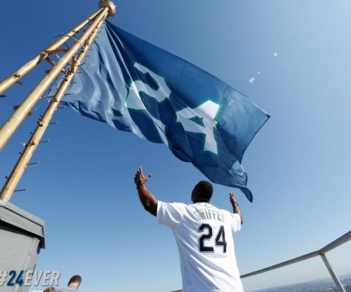 Ken Griffey Jr.: Seattle Mariners honor legend with flag, jerseys, balls, bobblehead