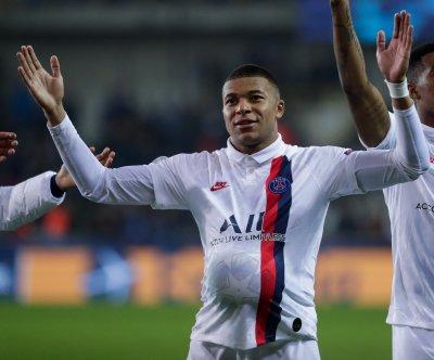 Champions League soccer: PSG's Kylian Mbappe nets hat trick vs. Club Brugge