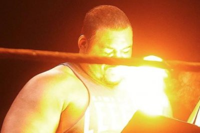WWE NXT: Keith Lee hit with a fireball from Karrion Kross