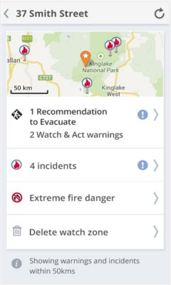 Smartphone app meant to warn Australians of fire risk comes under fire