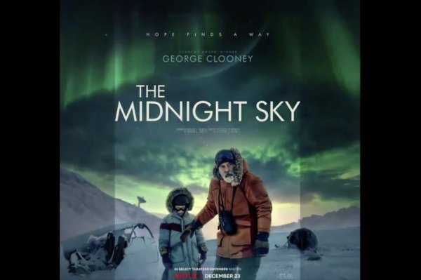 `The Midnight Sky` poster shows George Clooney venture...