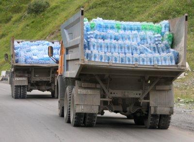 Russian aid convoy arrives at Ukraine border
