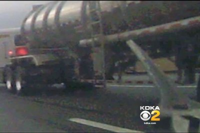 Wrench flies off semi truck, smashes driver's windshield in Pennsylvania
