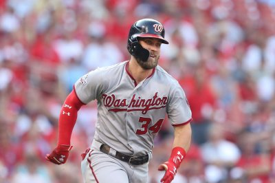 Phillies' Bryce Harper has right ankle contusion