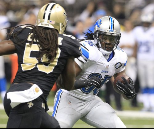 Joique Bell works out for Detroit Lions