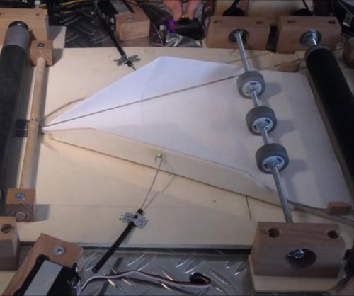Swiss student invents paper plane folding machine