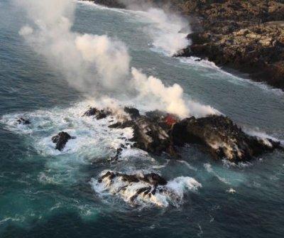 Lava from Mount Kilauea has formed small island of Hawaii
