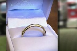 Wedding ring found in septic truck returned to owner