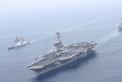 USS Theodore Roosevelt joins India's air force, navy for exercises