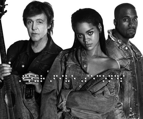 Rihanna, Kanye West and Paul McCartney release 'FourFive Seconds'
