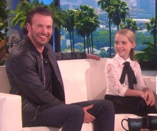 Chris Evans and Mckenna Grace discuss on-set swear jar on 'Ellen'