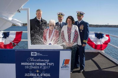 Huntington Ingalls christens new Legend-class cutter for Coast Guard