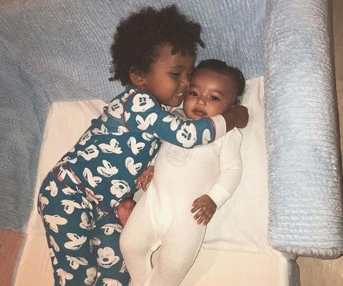 Kim Kardashian's son hugs baby Chicago in new photo