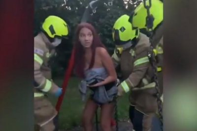 Firefighters free teen from baby swing in TikTok stunt gone wrong