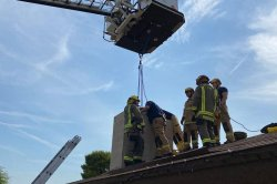 Nevada firefighters rescue trapped teen from home's chimney