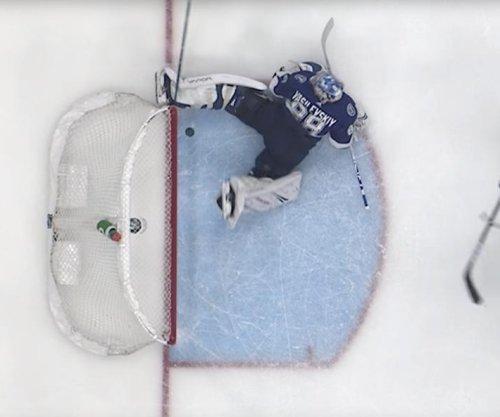 Lightning GK Andrei Vasilevskiy makes incredible skate save vs. Leafs