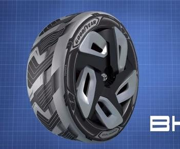 Goodyear shows off tires that can produce electricity