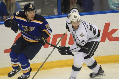 Los Angeles Kings' Wagner scores on Forbort's between-the-legs pass