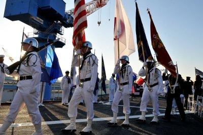 USS Blue Ridge visits South Korean port city ahead of summit