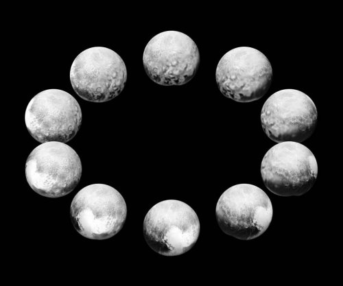 Composite images compare sunlit faces of Pluto, Charon